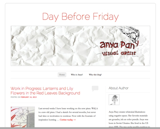 Day Before Friday Blog