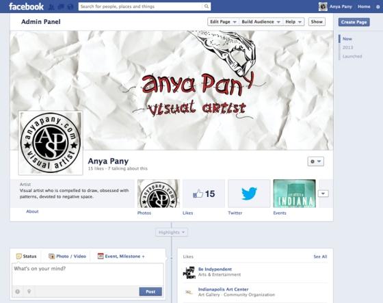 Anya Pany Fan Facebook Page