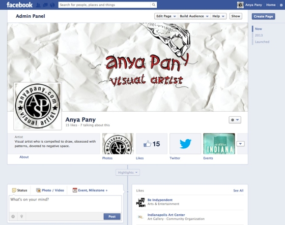 Anya Pany Fan Facebook Page